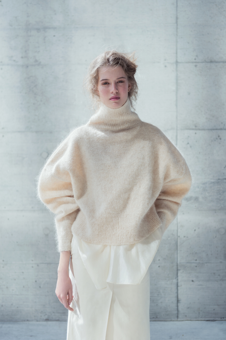 White Angora Sweater