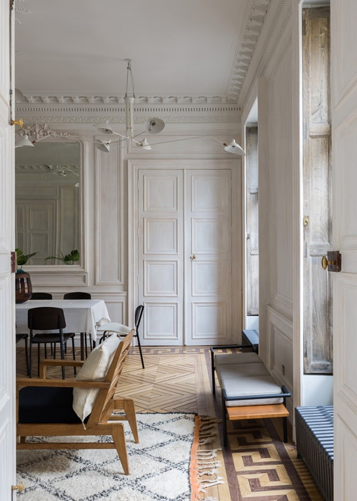 Superbe Studio Razavi Undertook Heavy Restoration Of Original Features In This Parisian  Apartment(more Specifically A Remarkable Wood Floor) And Created A Smooth  ...