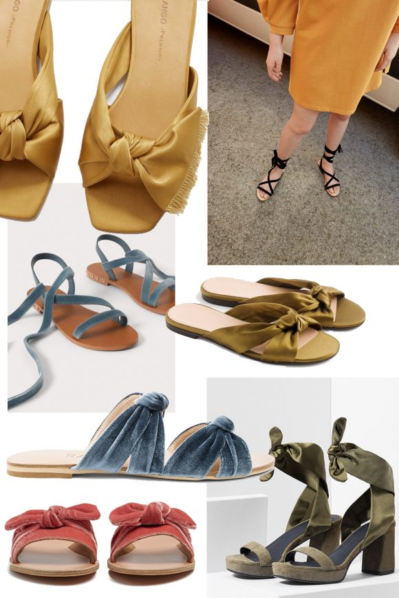 MANGO Bow satin sandals Asrs3Zr3QB