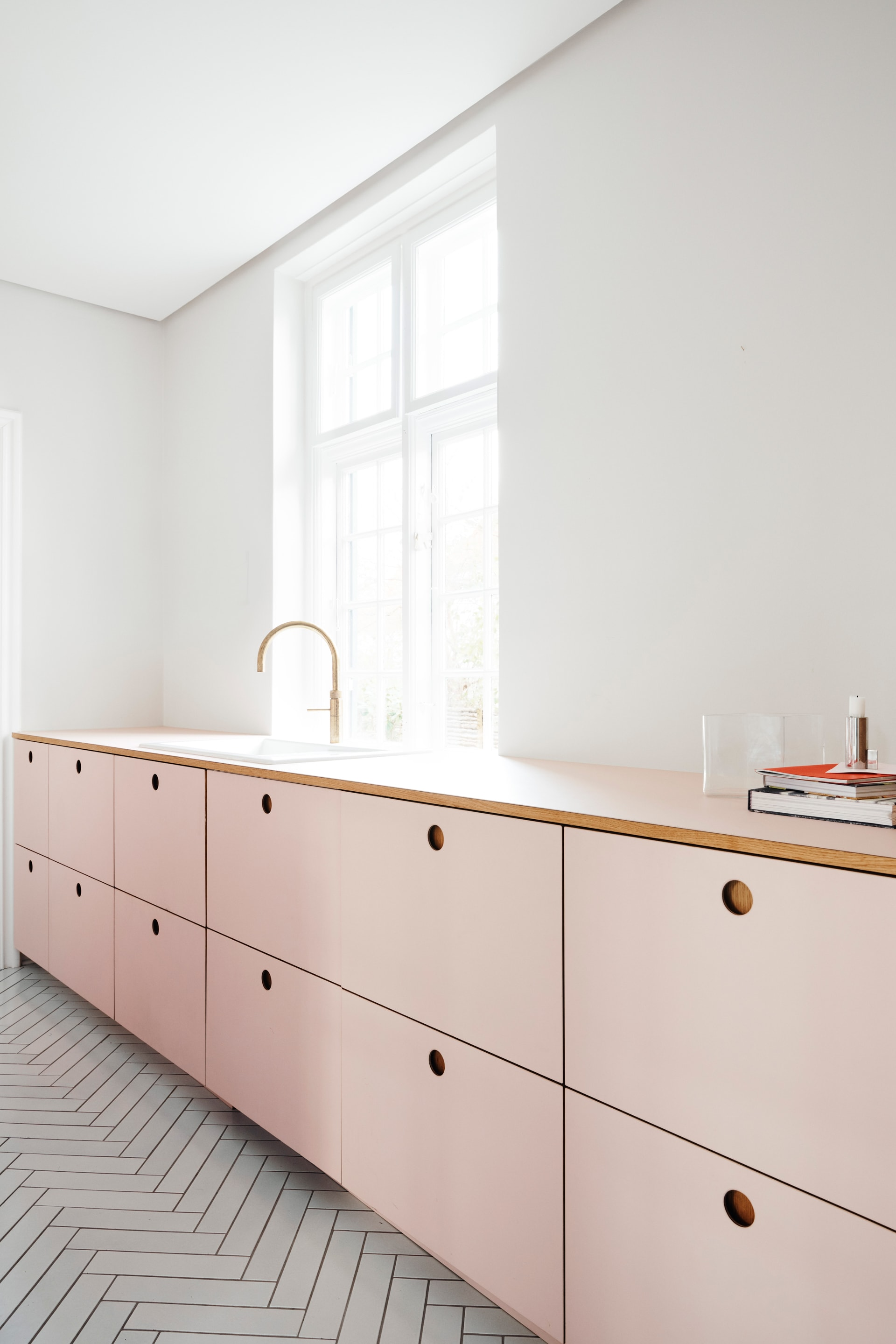 Ikea Kitchen Countertops >> Pink Kitchen fronts by Reform for IKEA kitchens