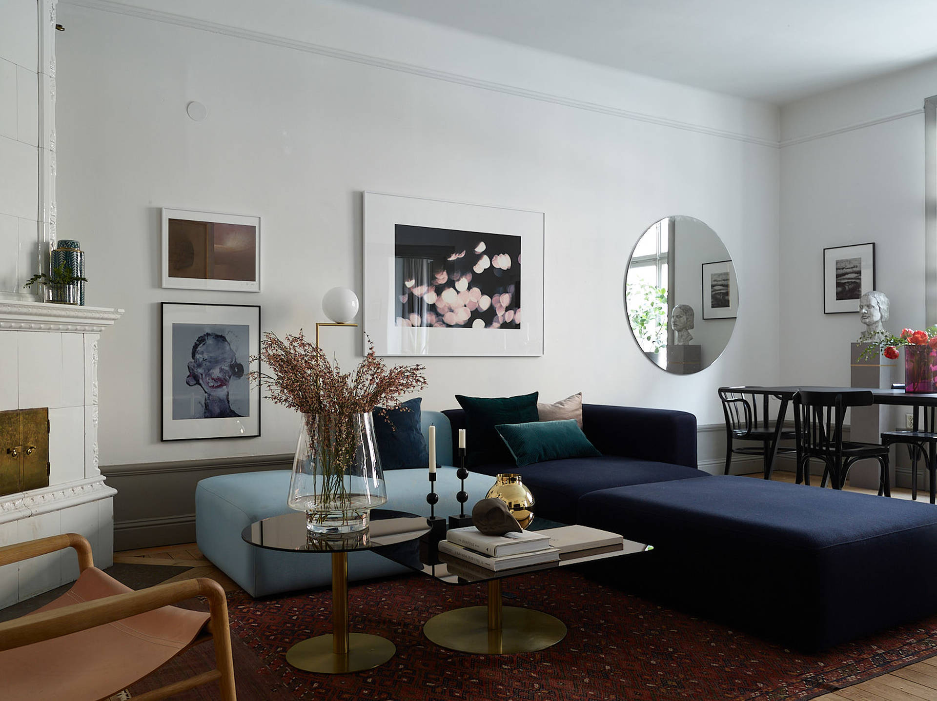 This Apartment Has A Very Spacious Living Room But Still Looks Cozy. I Love  The Sofa Area U2013the Idea Of Combining Sofas In Two Different Colours Is ...