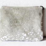 SPLATTER LEATHER POUCH